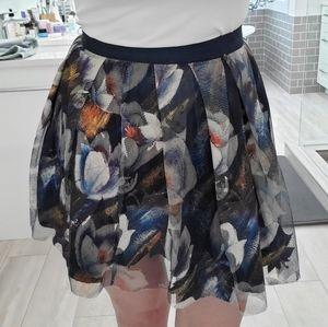NWOT Navy blue crinoline skirt